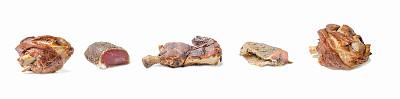 白色背景,肉制品,菜单,烤鸡,动物腿骨,清新,背景分离,香料,烤的,食品