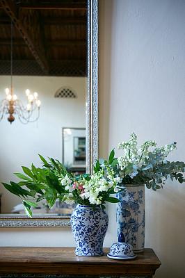 结婚宴会,瓷器,镜子,事件,花盆,华贵,浪漫,普罗梯亚木,郁金香,餐巾