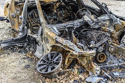汽车,路,烧毁的,热,不幸,交通,坏掉的,堆,钢铁,户外