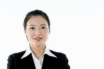 肖像,白色背景,女商人,自然美,律师,专业人员,背景分离,中国人,欢乐,影棚拍摄