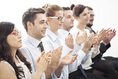 领导能力,商务人士,鼓掌欢迎,专业人员,一排人,办公室,幸福,男商人,女商人