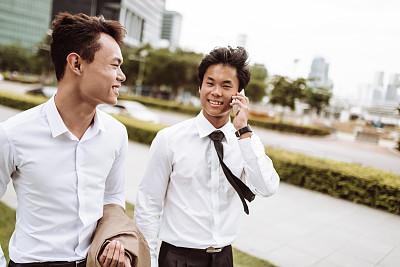 男商人,新加坡,伴侣,专业人员,仅男人,肖像,技术,户外,办公室,看