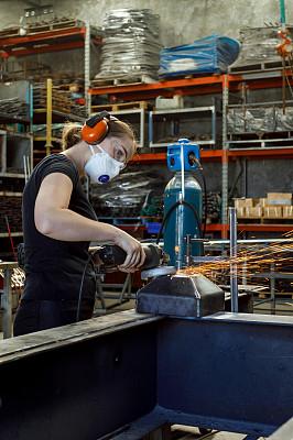 车间,女性,工匠,学员,钢铁,澳大利亚,仅女人,仅一个女人,工业机械,业主