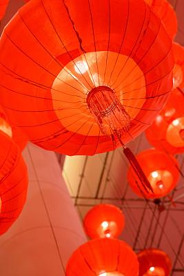 红色,中国灯笼,春节,多色的,概念,清新,幻想,幸福,灵性,旅游目的地