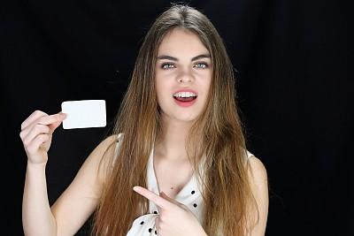 幸福,卡片,塔罗牌,仅成年人,长发,信用卡,青年人,魅力,清新,女人