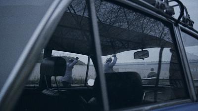 波兰,1981,民兵,起跑线,暗色,汽车,仅男人,车灯,活动家,棕褐色调