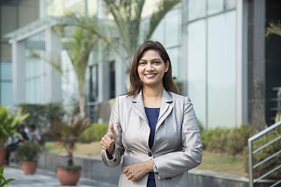 幸福,女商人,图像,股票,肖像,拿着,顾客,想法,户外,印度