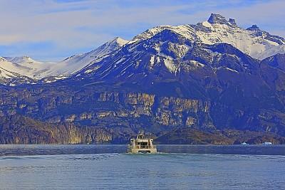 Ship expedition on Lake Argentina near Upsala glacier – El Calafate, Patagonia Argentina