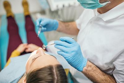 牙医,青年女人,健康保健工作人员,专业人员,部分,医药职业,药,医疗流程,医疗器械