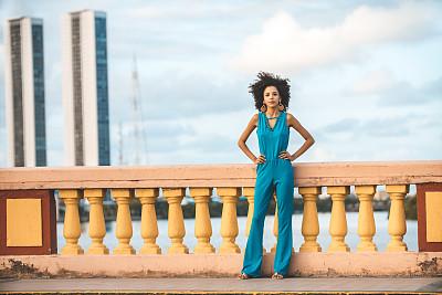 时装模特,伦敦城,妇女问题,肖像,巴西,红色的口红,帕南布科洲,户外,仅一个女人,注视镜头