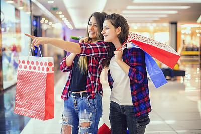 购物中心,乐趣,少女,中心,自然美,城市生活,肖像,拿着,儿童,童年