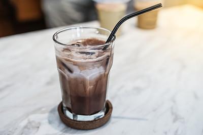 玻璃杯,牛奶巧克力,钙,饮料,活力,寒冷,奶制品,热,清新,背景分离