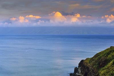 夏威夷,毛伊岛,岛,活力,云景,热带气候,浪漫,自然神力,黄昏,摩洛卡伊岛