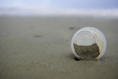 塑胶,海洋,一次性物品,玻璃杯,环境,环境保护,一次性杯子,垃圾,肮脏的
