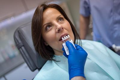 白色,人的牙齿,青年女人,自然美,比例,树荫,仅女人,牙移植,幸福