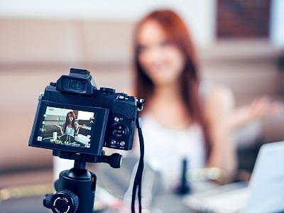 女性,彩妆,青年人,传媒,热情,技术,数字取景器,现代,住宅内部