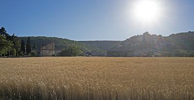 乡村,法国,普罗旺斯,南,远古的,古老的,图像,中世纪时代,宁静,无人
