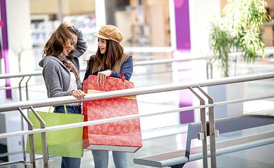 女孩,购物中心,乐趣,自然美,中心,肖像,拿着,顾客,儿童,商业活动
