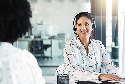 专业人员,部分,耳麦,技术,现代,客户服务代表,仅女人,办公室,幸福,忠告