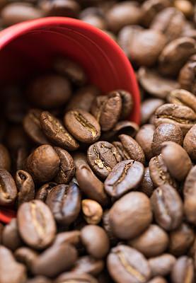 特写,咖啡豆,农业,纹理效果,泰国,卡布奇诺咖啡,堆,黑咖啡,浓咖啡,烤咖啡豆