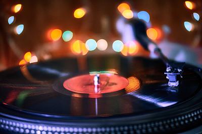 唱盘,特写,照亮,过时的,噪声,塑胶,唱片,浪漫,橙色,复古风格