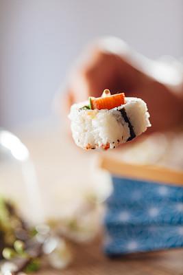 寿司,华丽的,螃蟹,日本食品,米,禅宗,拿着,东亚,影棚拍摄,鱼类
