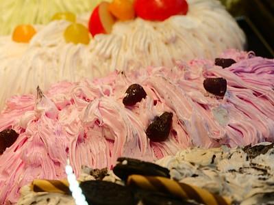 水果,冰淇淋,清新,柠檬冰淇淋,绿茶冰淇淋,泰国,意大利冰淇淋,蓝莓,黑刺莓,甜点心