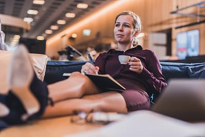 女商人,咖啡,电子邮件,专业人员,信函,技术,现代,透过窗户往外看,商业金融和工业,忙碌