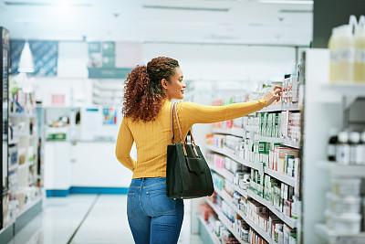 商店,药,药丸,现代,拉美人和西班牙裔人,仅女人,仅一个女人,看,处方药