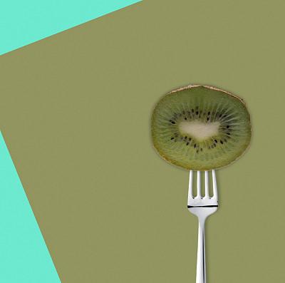 切片食物,猕猴桃,蔬菜,清新,背景分离,偏好,彩色背景,装饰菜,多样,食品