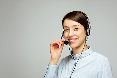 耳麦,呼叫中心,电话机,总机人员,背景分离,肖像,技术,客户服务代表,欢乐,影棚拍摄