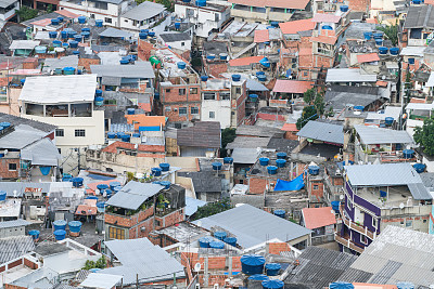 巴西,里约热内卢,贫民窟,维迪哥尔海滩,城市生活,人类居住地,著名景点,社区,屋顶,户外