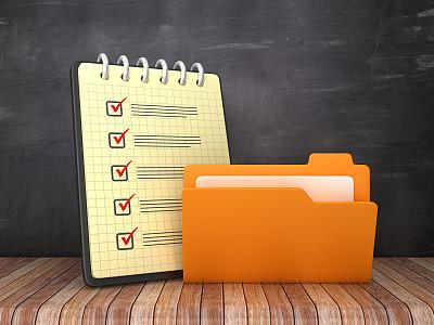 检查表,三维图形,计算机,活页夹,黑板,笔记本,背景,技术,地板,粉笔