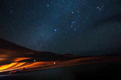 伊朗,沙漠,银河系,夜晚,亚洲,自然,太空,图像,无人,帐篷