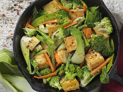 蔬菜,豆腐,生姜,素食,清新,日本食品,食品,东方食品,酱油,中国食品