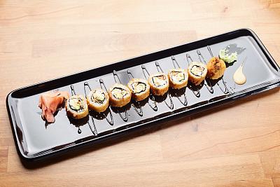 寿司,上菜,清新,华贵,烤的,食品,烤肉餐,餐馆,动物,腌制食品