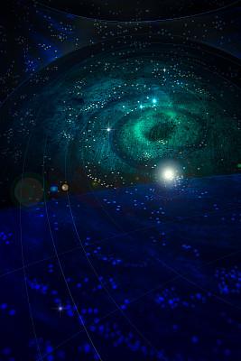 太空,夜晚,暗色,蓝色,黑色,闪亮的,深的,洞,幻想,自由