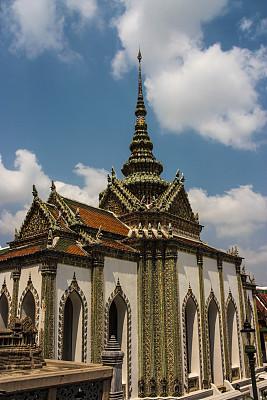 曼谷,玉佛寺,寺庙,佛,户外,多色的,高大的,古老的,旅游目的地