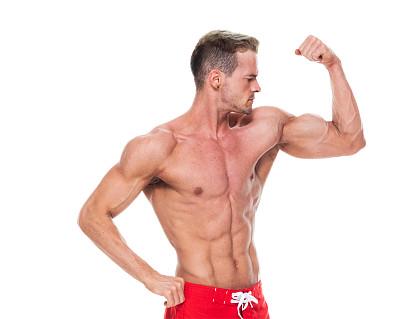 人类肌肉,游泳短裤,男人,无上装,健美身材,男性美,鼓起肌肉,衣服,信心