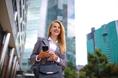 女商人,电话机,伦敦城,街道,奥地利,技术,商业金融和工业,户外,仅女人,仅一个女人