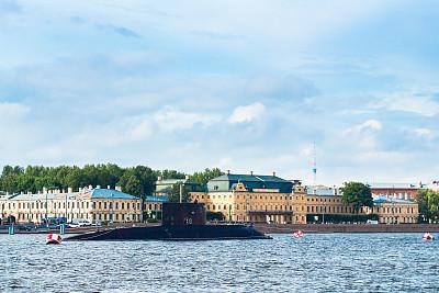 圣彼得堡,涅瓦河,户外,夏天,蓝色,石材,古老的,著名景点,国内著名景点,过时的