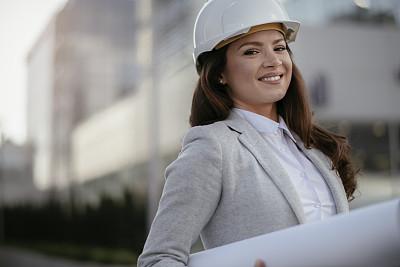 蓝图,女商人,做计划,建筑师,工程师,专业人员,现代,商业金融和工业,商业活动,房地产开发商