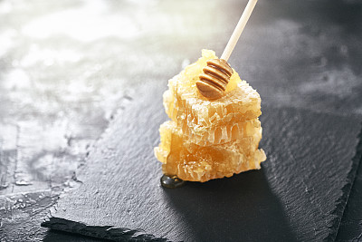 清新,蜂箱,六边形,部分,暗色,食品,橙色,成分,蜂窝,蜂蜜
