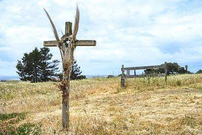 云,记忆,背景,路边,十字形,云景,图像,远距离,加利福尼亚,草