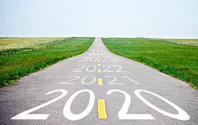 2020,空的,柏油路,数字,沥青,策略,交通,直的,公路,草