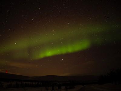 拉普兰,北极光,仙女座星系,非都市风光,地形,夜晚,冬天,绿色,自然美,宏伟