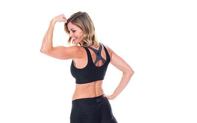女性,运动服,自然美,背景分离,35岁到39岁,一个人,女性特质,女人,运动胸罩,青年女人