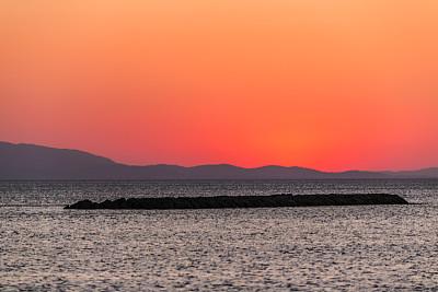 土耳其,海岸线,夏天,海滩,城镇,巴勒克埃西尔,亚洲,空的,海港,土耳其爱琴海