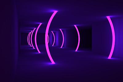照明设备,背景,住宅房间,视角,几何形状,华贵,技术,现代,隧道,走廊
