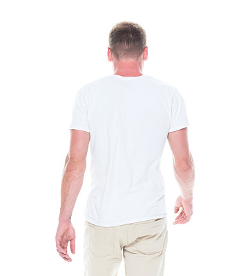 背面视角,男人,短裤,男性美,衬衫,无法辨认的人,仅男人,一个人,25岁到29岁,仅一个男人